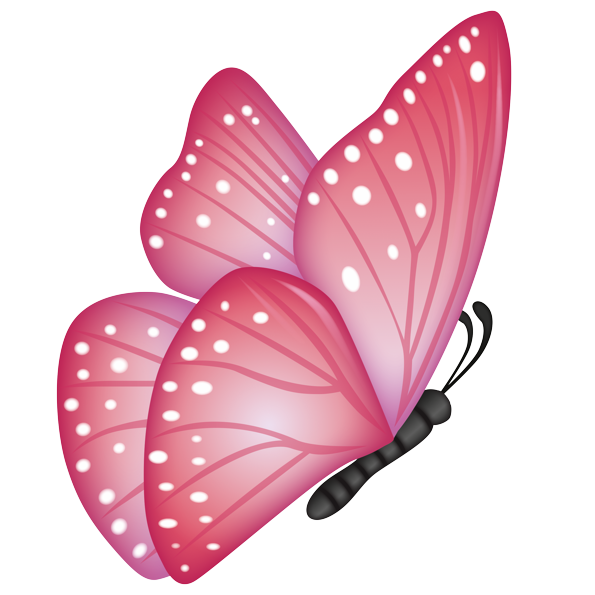 Emoji The Official Brand Pink Butterfly
