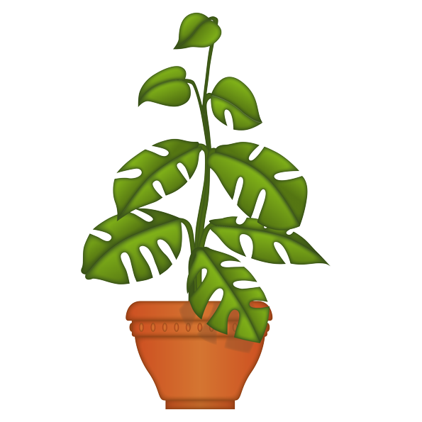 emoji® – The Official Brand | Big leaf plant - U+1FAB4